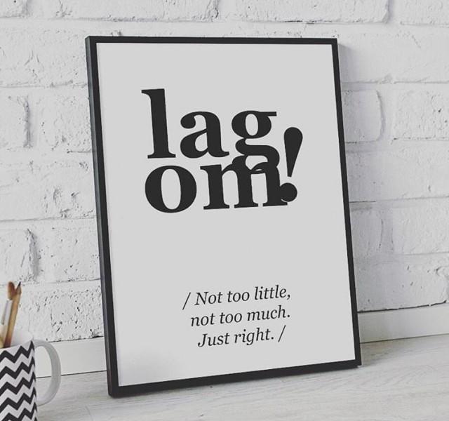 """Il """"lagom"""": l'arte della moderazione"""