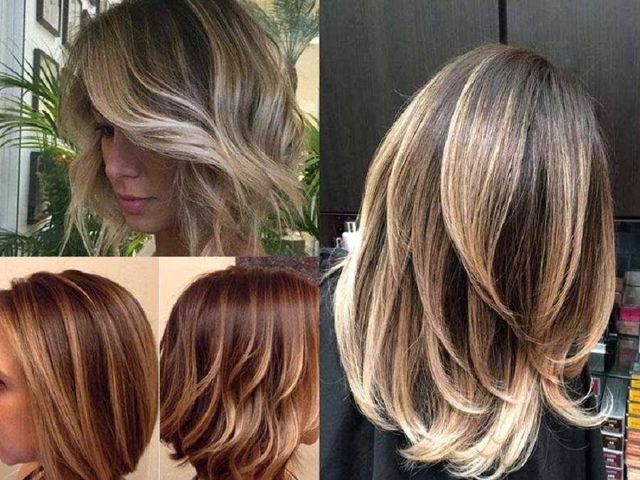 Effetto balayage capelli corti